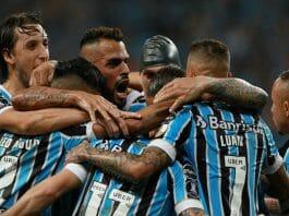 Grêmio comemora gol
