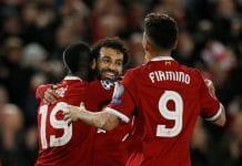 Salah, Firmino e Mané