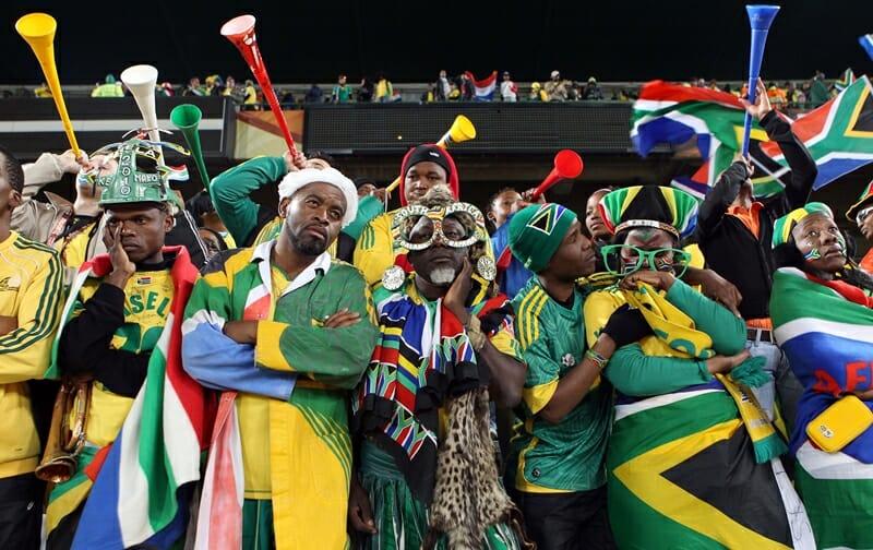 Torcedores da África do Sul