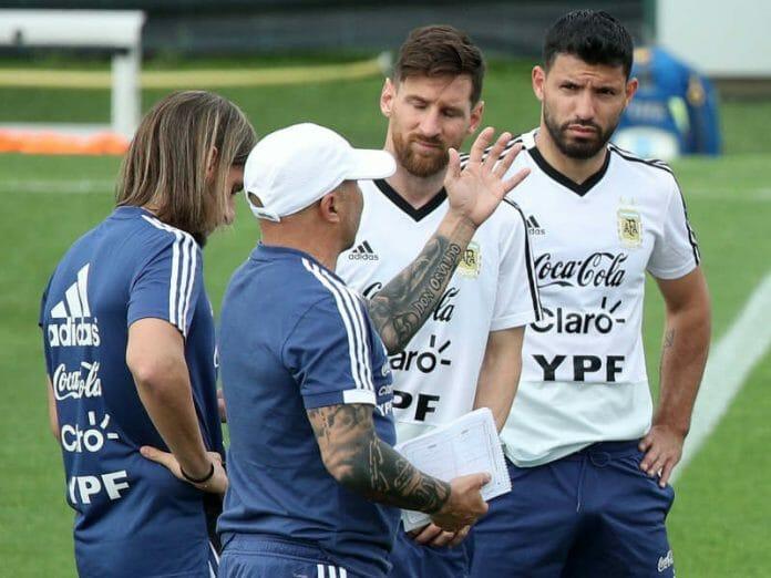 Messi Aguero Sampaoli