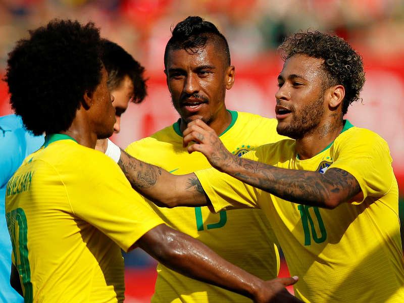 Neymar Willian Brasil