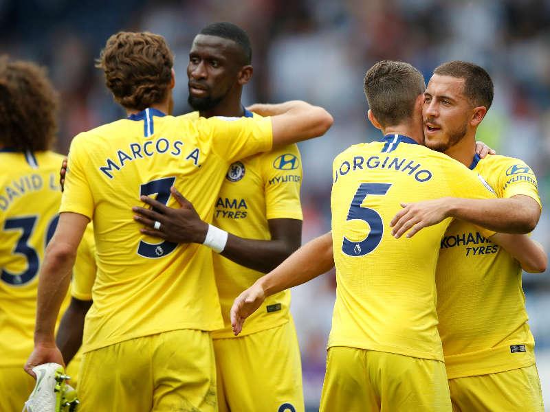 Hazard Chelsea comemora