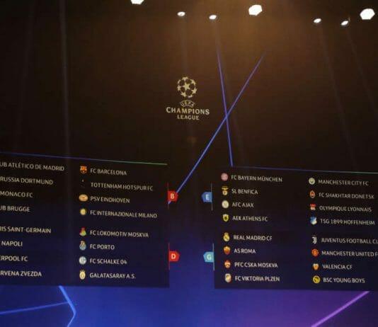 sorteio champions league