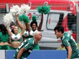 O Palmeiras bateu o Cruzeiro e assumiu a liderança do Brasileirão