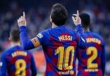 messi comemora Barcelona